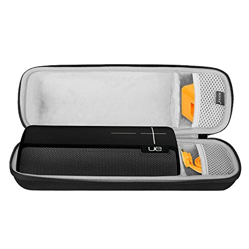 BOVKE Shockproof Bluetooth Speaker Carrying Case for UE BOOM 2, USB Cable and Power Charger, Durable & Impact Resistant EVA Exterior, Ergonomic Carrying Handle, For Storage, Travel, & More