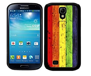 Lgbt Colorful Rainbow Gay Pride 2-Piece Dual Layer High Impact Black Silicone Cell Phone Case Cover (SIV S4 I9500)