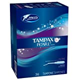 Tampax Pearl Plastic, Ultra Absorbency, Unscented Tampons, 36 Count (Pack of 2), Health Care Stuffs