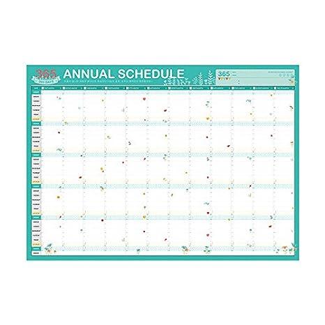 Amazon.com: ASMGroup Calendario de pared 2019 planificador ...