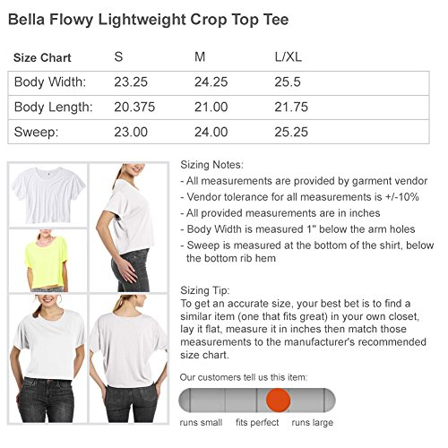 FUNNYSHIRTS.ORG to Be Where The People aren't: Bella Ladies Flowy Boxy Cropped Tee