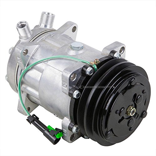 AC Compressor & 2-Groove 125mm A/C Clutch Replaces Sanden SD7H15HD 24v 4652 7824 8061 - BuyAutoParts 60-02107NA -