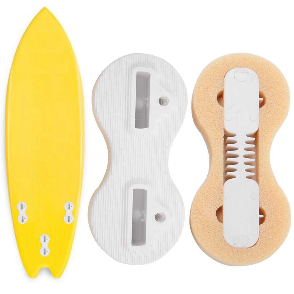 wei/ß 3PCS Kunststoff Surfbrett Fcs Fusion Fin Box Surfbrett Flossen Surf Tri Fin Fcs Stecker Set