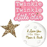 Pink Twinkle Twinkle Little Star - DIY Shaped Baby Shower or Birthday Party Cut-Outs - 24 Count