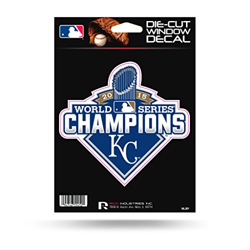 Kansas City Royals Official MLB 5 inch 2015 World Series Champions Medium Die Cut Car Decal by Rico Industries 890599