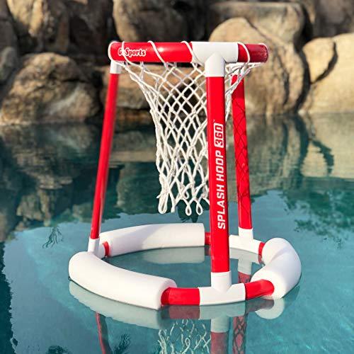 51dTPX1U8JL - GoSports Splash Hoop 360 Floating Pool Basketball Game | Includes Water Basketball Hoop, 2 Balls and Pump
