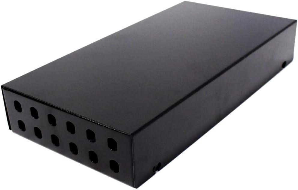 BeMatik - Caja de terminales de Fibra óptica metálica Negro de 12 ST: Amazon.es: Electrónica