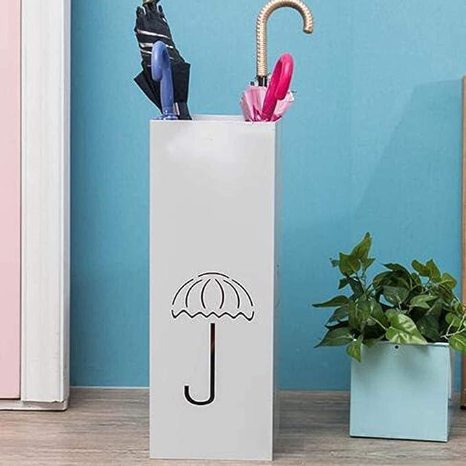 household umbrella rack with drain tray,Blue rectangular living room Bcaer Floor-standing umbrella drain rack to place a simple storage bucket large doorway