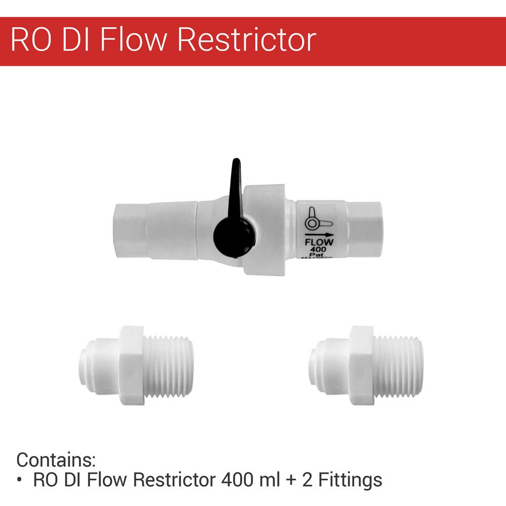 Reverse Osmosis RO Flow Restrictor 400 ML with build in Manual flush bypass knob