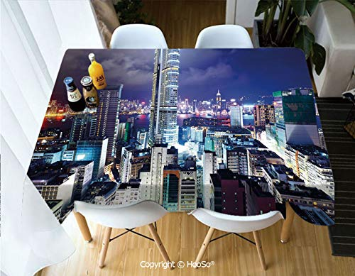 Premium Polyester Table Cover, Machine Washable, Durable Table