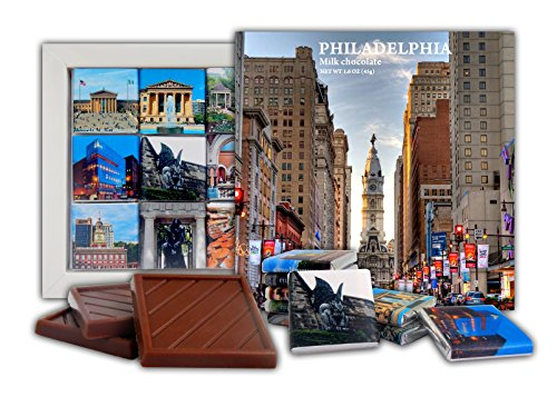 DA CHOCOLATE Candy Souvenir PHILADELPHIA Chocolate Gift Set 5x5in 1 box - National Harbor Mall