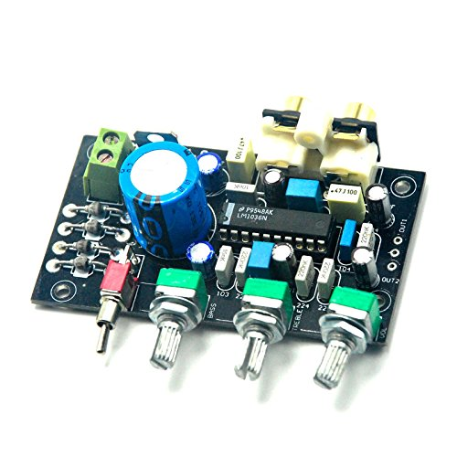 LM1036 Treble bass tone adjustment complete preamplifier board by Jolooyo