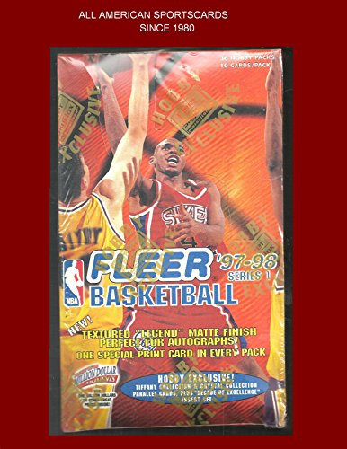 1997-98 FLEER BASKETBALL SERIES 1 HOBBY BOX TIFFANY/CRYSTAL COLLECTION - 1997 Crystal