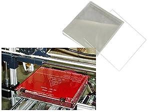 Yeme 3D Printer MK2 MK3 Heated Bed Tempered Borosilicate Glass Plate 213*200*3mm by Yeme