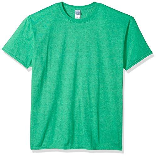 (Gildan Men's Softstyle Ringspun T-shirt - Large - Heather Irish Green)