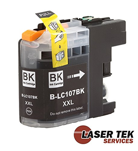 Brother LC107BK XXL (LC-107) 5 Pack Super High Yield Compatible Black Ink Cartridges MFC-J4310DW MFC-J4410DW MFC-J4510DW MFC-J4610DW MFC-J4710DW Photo #2
