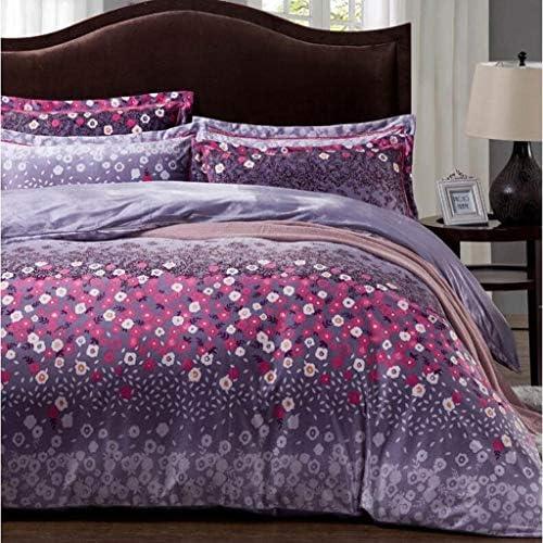 寝具布団カバー 4組の寝具新しい寝具4組、ヨーロッパ綿4組、ベッドサイズツイン、クイーンに適して キルト掛け布団寝具セット (サイズ : Queen)