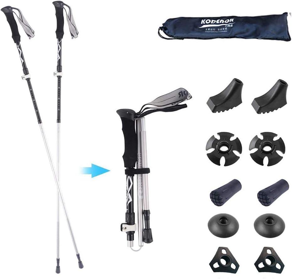 DOUDOU Trekking Poles- 2-pc Pack Adjustable Hiking Walking Sticks – Strong – Auminum Alloy 7075 Trekking Sticks Antishock and Quick Lock System Ultralight for Hiking Camping
