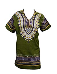 Unisex Shirt Blouse Traditional African Print Dashiki Hoodie Caftan Top Dress