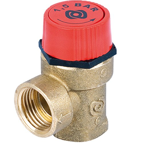 1/2 FEMALE SAFETY PRESSURE RELIEF VALVE - BOILER HEATING 3 BAR by plumbing4home