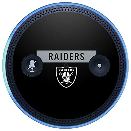 Skinit NFL Oakland Raiders Amazon Echo Plus Skin - Oakland Raiders Black Performance Series Design - Ultra Thin, Lightweight Vinyl Decal Protection