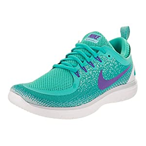 Nike Women's Free RN Distance 2 Running Shoe LIGHT AQUA/HYPER GRAPE-CLEAR JADE 7.5