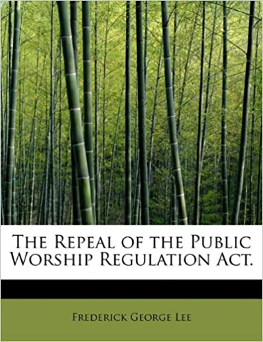 Amazon The Repeal Of The Public Worship Regulation Act