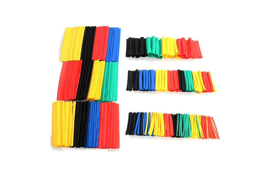 Shentian 328pcs 2:1 Polyolefin Shrinking Assorted Heat Shrink Tube Wrap Wire Cable Insulated Sleeving Tubing Set