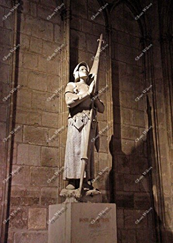 Joan Of Arc Statue Paris - Statue of St. Joan of Arc 1412-1431 Jeanne d' Arc in Notre Dame Cathedral Paris, France Europe Original Fine Art Photography Wall Art Photo Print