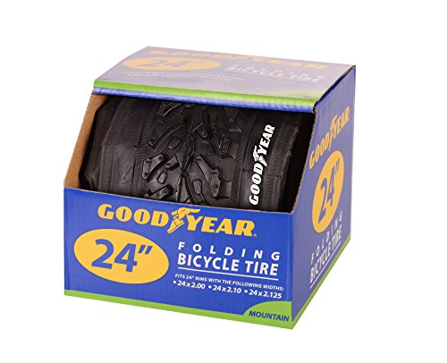"Goodyear Folding Bead Mountain Bike Tire, 24"" x 2/2.125"", Black"