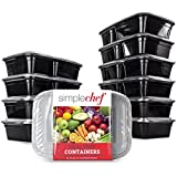 Simple Chef Meal Prep Food Containers - Set of 10 ()
