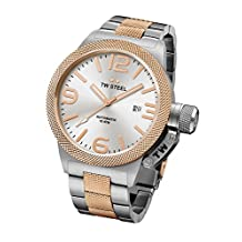 TW Steel CB126 Men's Canteen Bracelet Automatic Silver Dial Two Tone Rose Gold Steel Watch