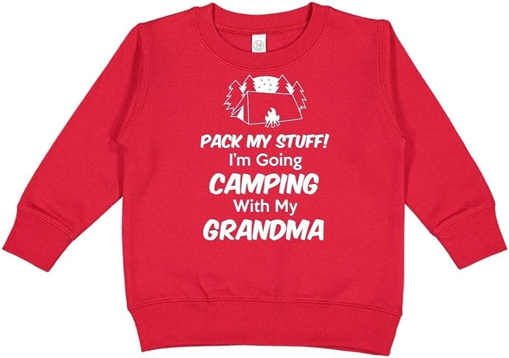 Im Going Camping with My Grandma Toddler//Kids Sweatshirt Pack My Stuff
