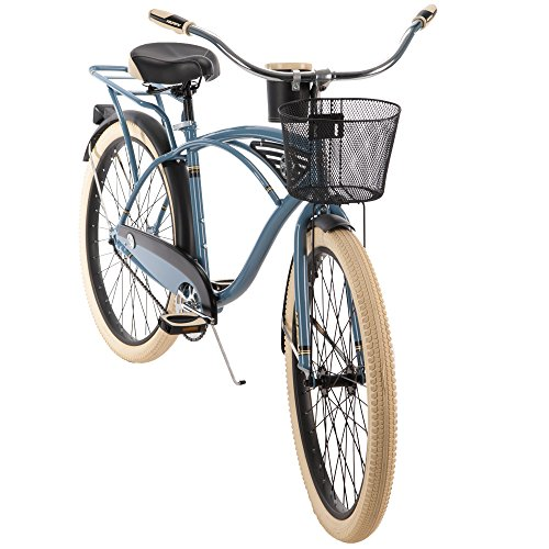 Huffy 26-inch Deluxe Men's' Cruiser Bike, Blue by Huffy (Image #2)