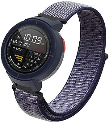 SIKAI Correa de Nailon Suave Compatible con Amazfit Verge Smartwatch, Correa de Repuesto Ajustable para Amazfit Verge 3ª Correa de liberación rápida ...