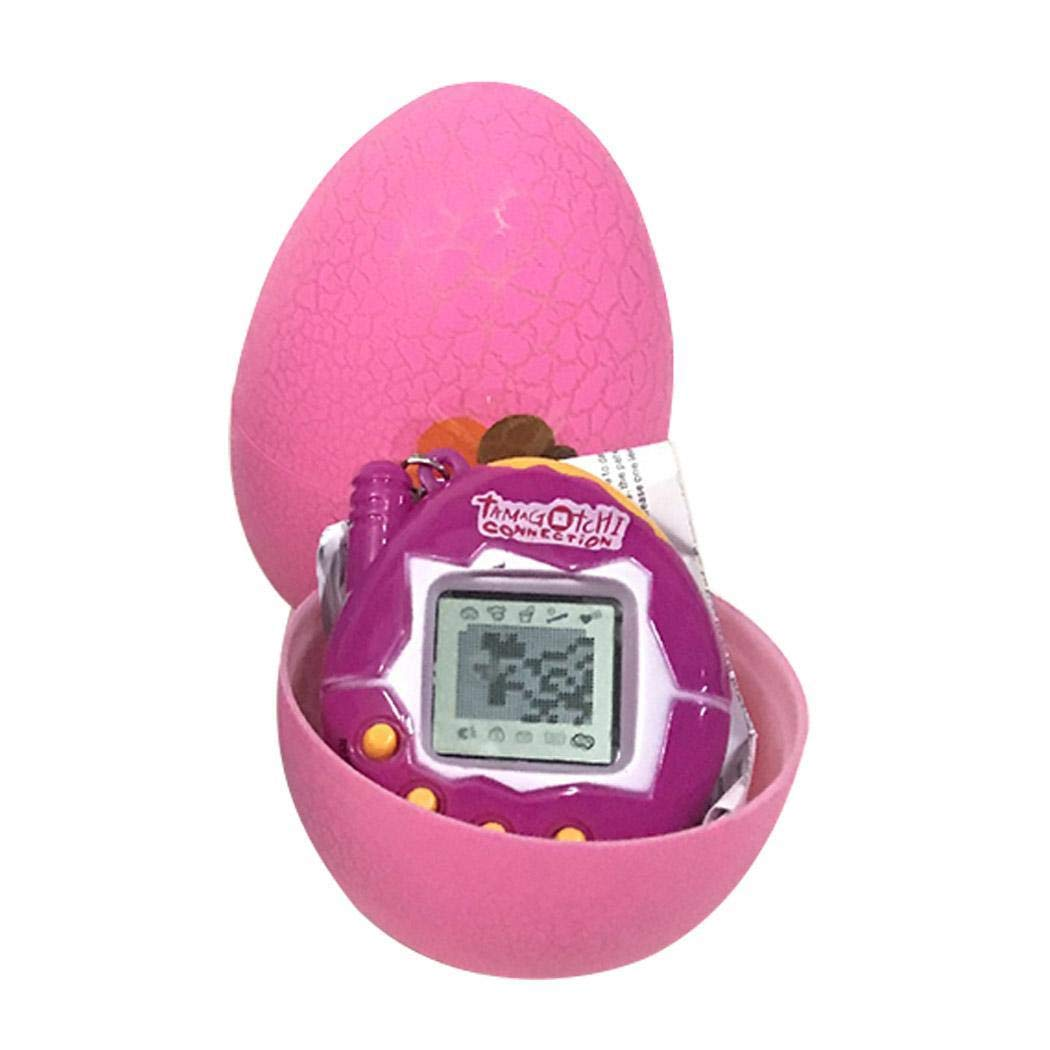 Diaped Tamagotchi Uovo Dinosauro Giocattoli per Bambini Portachiavi Gioco Elettronico Animale Virtuale Animali Interattivi Cyber Tiny Pet Toy Macchina da Gioco Nostalgica