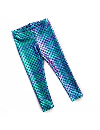 ZooArts 1-5 Years Baby Kids Girls Clothes Fish Scale Stretch Leggings Tights
