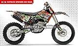 Kungfu Graphics Scrawl Custom Decal Kit for 150 200 250 300 450 505 XC XCF XC-F 2008 2009 2010, Black Orange Green