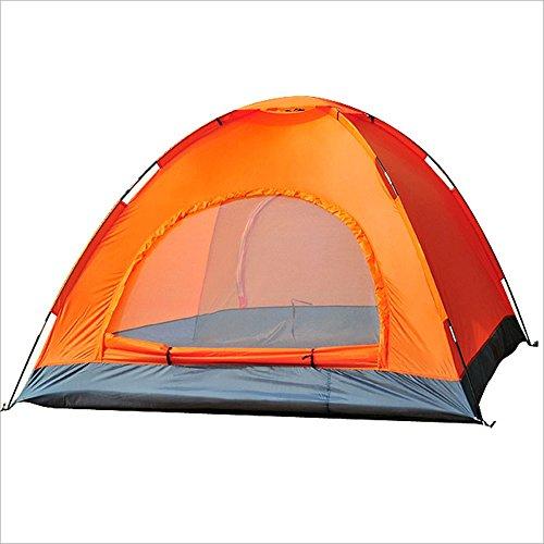はい罪結婚したMUTANG 屋外肥厚雨天3-4人ハイキング釣りキャンプテントマルチカラーオプションのダブルシーズンテント