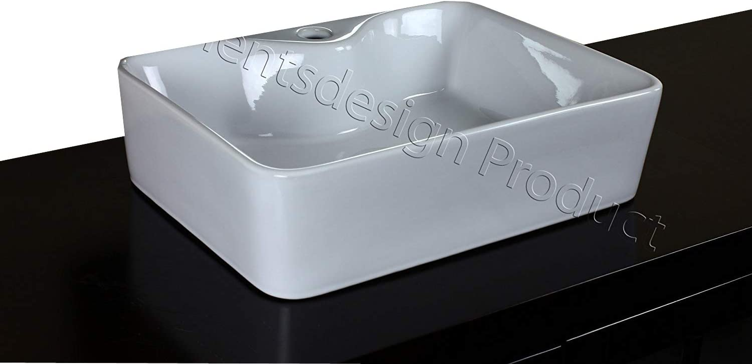 Bathroom White Ceramic Porcelain Vessel Vanity Sink 7291 *FREE Pop Up Drain*