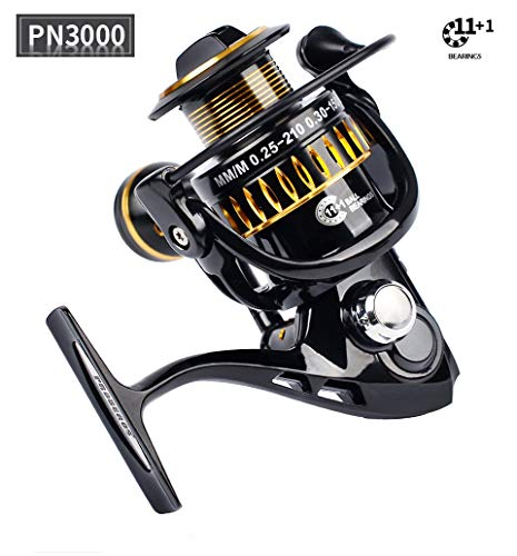 Saying Fishing Reel, Light Smooth Bass Gear Spinning Casting Left Right Saltwater Freshwater Fishing Reels, 12-Axis Spinning Wheel Saltwater Surf Catfish Fishing ()