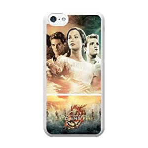 Grouden R Create and Design Phone Case,The Hunger Games Catching Fire Cell Phone Case for iPhone 5C White + Tempered Glass Screen Protector (Free) GHL-2973130