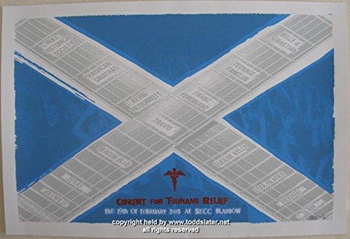 2005 Mogwai & Idlewild Tsunami Relief Concert Poster by Slater