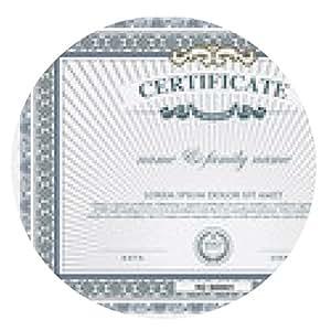 alfombrilla de ratón plantilla de certificado y el elemento. - ronda - 20cm