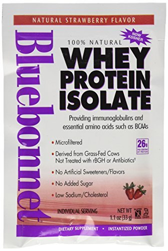 BlueBonnet 100% Natural Whey Protein Isolate Powder, Strawberry, 8 Count by Blue Bonnet
