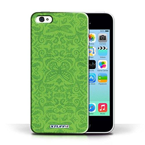 Etui / Coque pour Apple iPhone 5C / Vert conception / Collection de Motif médaillon