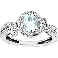 Finecraft 3/4 ct Natural Aquamarine Ring