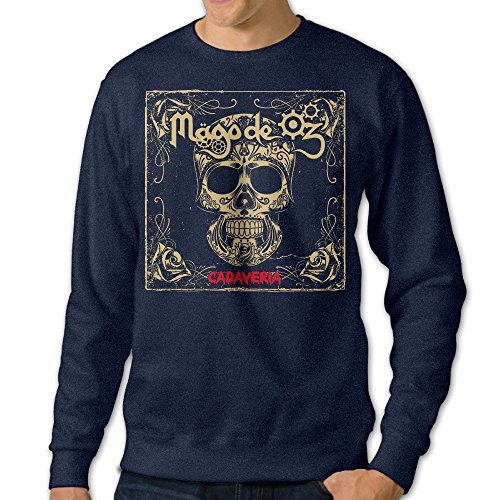 [NUBIA Men's Love Oz Long Sleeve Sweater Navy XXL] (Wicked Musical Costumes Sale)