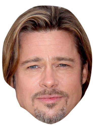 Brad Pitt Celebrity Mask, Cardboard Face and Fancy Dress (Brad Pitt Costume)