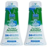 SmartMouth Original Activated Mouthwash for 24 Hour Bad Breath Prevention, Fresh Mint, 16 fl oz, 2 Pack